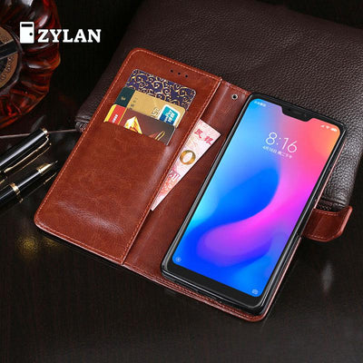 ZYLAN For Xiaomi Redmi 6 Pro Leather Case Cover Card Pocket Wallet Bag Flip Cover Protect Case For Redmi 6 Pro Redmi 6pro & GIFT