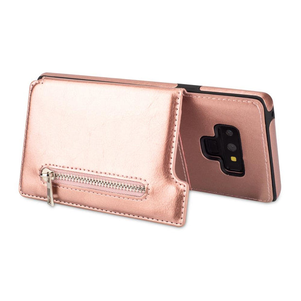 Zipper Phone Cases For Samsung Galaxy Note 9 Fashion Multi Card Holders Leather Wallet Case Cover For Samsung Note 9