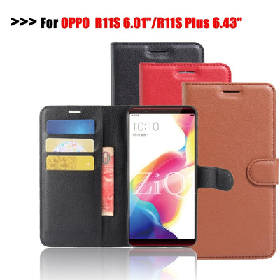 Ziqi Flip Case For Oppo R11S R11S Plus 2018 New Arrival Wallet Leather Cover Silicone Funda Card Slots Phone Cases For Oppo R11S