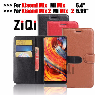 "Ziqi For Xiaomi Mi Mix 2 5.99"" Case Cover Luxury Leather Flip Case For Xiaomi Mi Mix 6.4""Ultra Thin Wallet Phone Bags Case Cover"