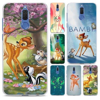 Anime Bambi Pink Deer Pattern Transparent Hard Phone Case Cover For Huawei Mate 10 10 Lite 9 S P10 P20 Lite P Smart