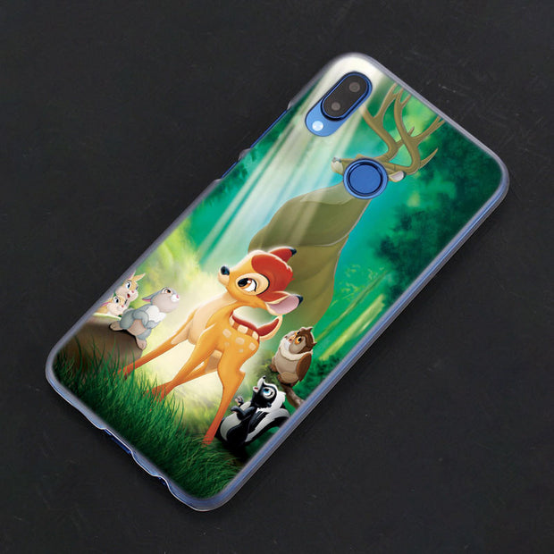 Anime Bambi Pink Deer Phone Case Cover For Huawei Nova 2i 3 3e 3i 4 Mate 10 20 Lite P20 Pro P20 Lite Hard PC Phone Cases