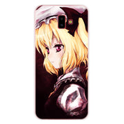 Anime Touhou Scarlet Girl Phone Case For Samsung Galaxy J2 J3 J4 Plus J5 J6 Plus J7 J8 2018 Soft Silicone Cases Cover