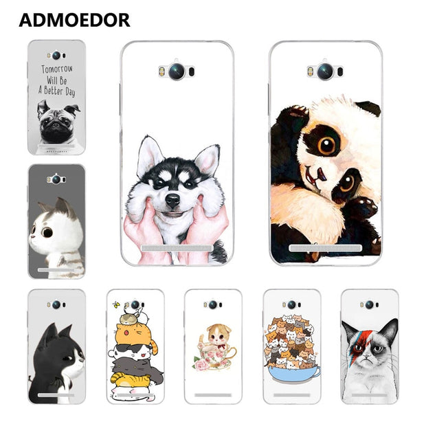 For Asus Zenfone MAX ZC550KL Case,Silicon Look Cat Painting Soft TPU Back Cover For Asus ZC550KL Phone Protect Bags Shell