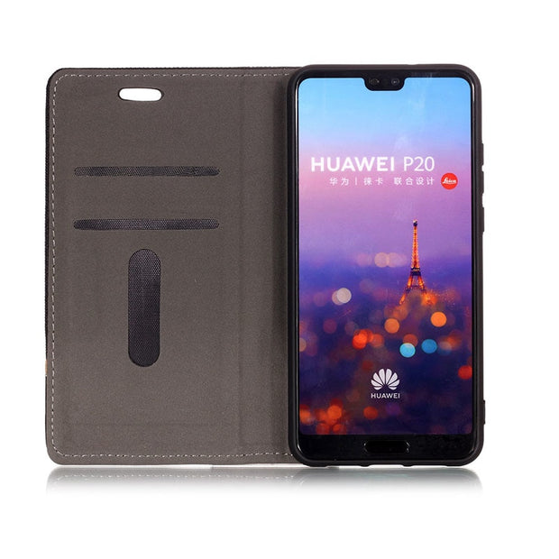 "For Huawei P20 Case AL00 EML-L09 EML-L09C For Huawei P 20 EML-L29 EML-L29C Phone Leather Cover Multi-color Optional 5.8"" Case"