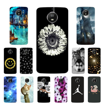 For Moto Motorola G5S XT1793 XT1794 XT1792 Phone Case Silicone Smiley Printing Cover For Motorola G5S G 5S Soft Fundas