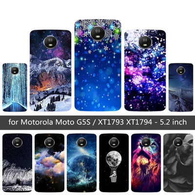 For Moto Motorola G5S XT1793 XT1794 XT1792 Phone Case Silicone Snowflake Printing Cover For Motorola G5S G 5S Soft Fundas