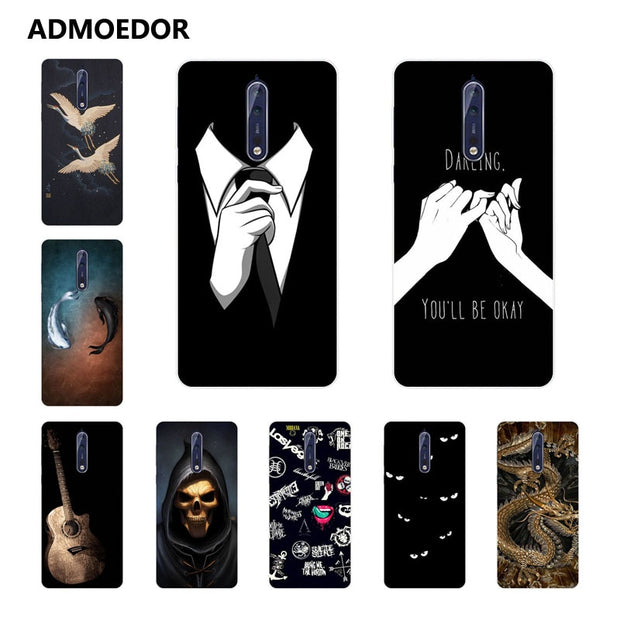 For Nokia 8 Case,Silicon Bandersnatch Painting Soft TPU Back Cover For Nokia 8 Phone Protect Case Shell