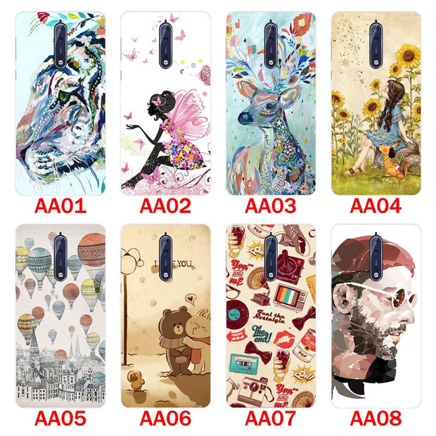 For Nokia 8 Case,Silicon Panda Painting Soft TPU Back Cover For Nokia 8 Phone Protect Case Shell