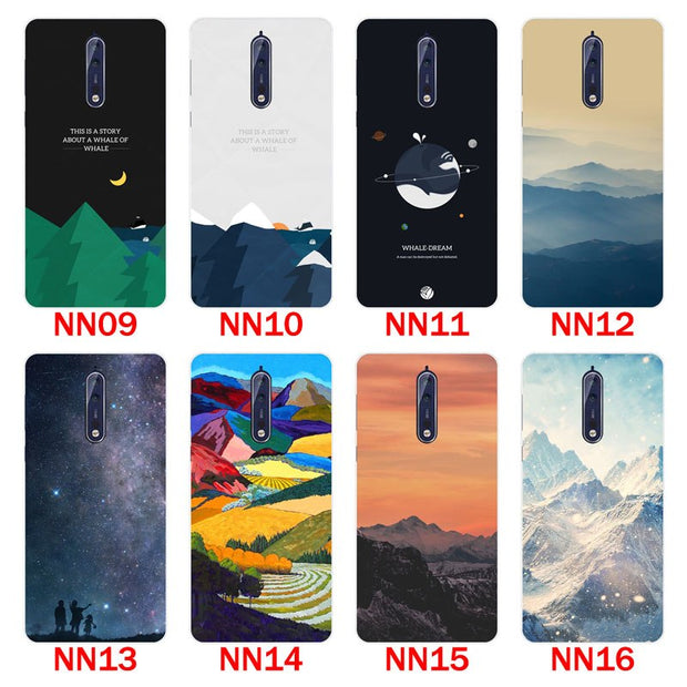 For Nokia 8 Case,Silicon Scenery Painting Soft TPU Back Cover For Nokia 8 Phone Protect Case Shell