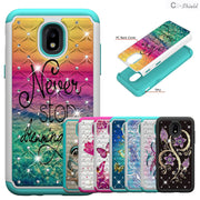 "For Samsung Galaxy J7 2018 SM-J737A J737 Case Achieve US SM-J737T For Samsung J 737 J78 Phone Cover 5.5"" 2 In 1 PC+TPU Leather"