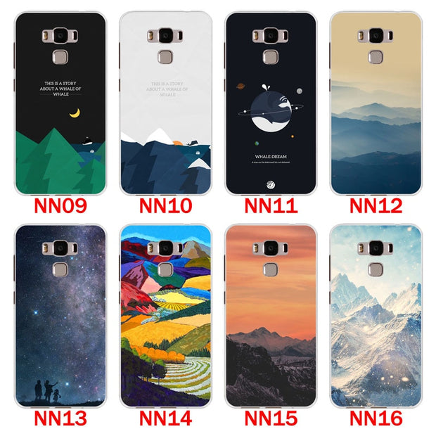 For Asus Zenfone 3 Max ZC553KL Case,Silicon Scenery Painting Soft TPU Back Cover For Asus ZC553KL Phone Protect Bags Shell