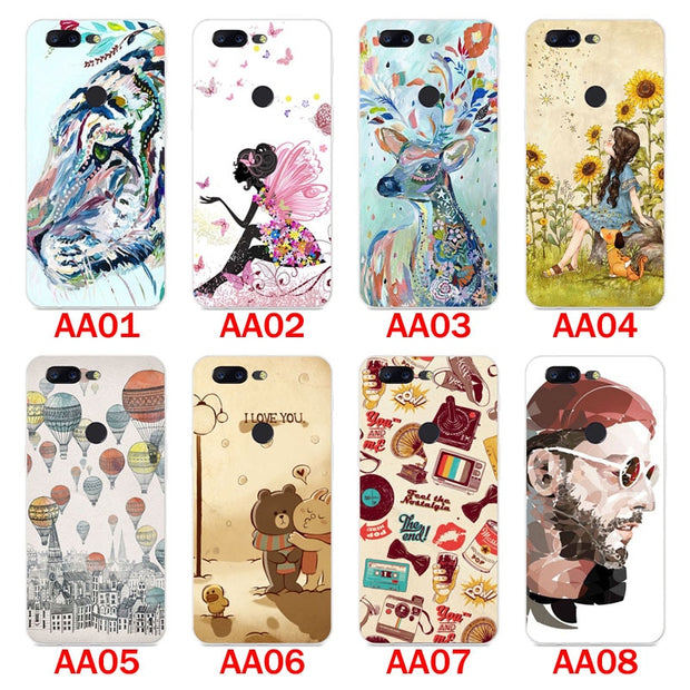 For Oneplus 5t Case,Silicon Panda Painting Soft TPU Back Cover For Oneplus 5t Phone Protect Bags Shell