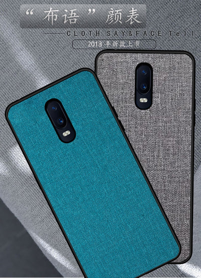 For Oppo R17 Pro Case Edition Case Fabric Hard PC Luxury Retro Cloth Leather Soft TPU Edge Fabrics Full Cover For Oppo R17 Pro