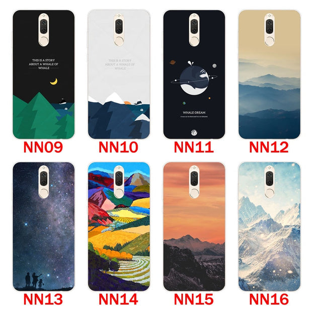 "Huawei Mate 10 Lite Case,Silicon Scenery Painting Soft TPU Back Cover For Huawei Mate 10 Lite 5.9"" Fitted Case Shell"