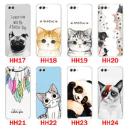 Huawei Nova 2s Case,Silicon Look Cat Painting Soft TPU Back Cover For Huawei Nova 2s Phone Protect Bags Shell