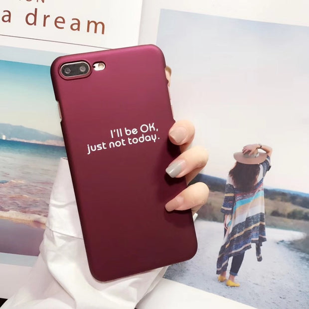 ISecret Couple Case For Iphone X Case Iphone 6 6s 7 8 Plus Cover Simple Word Kawaii Sweet PC Back Cell Phone Capa Fashion Coque