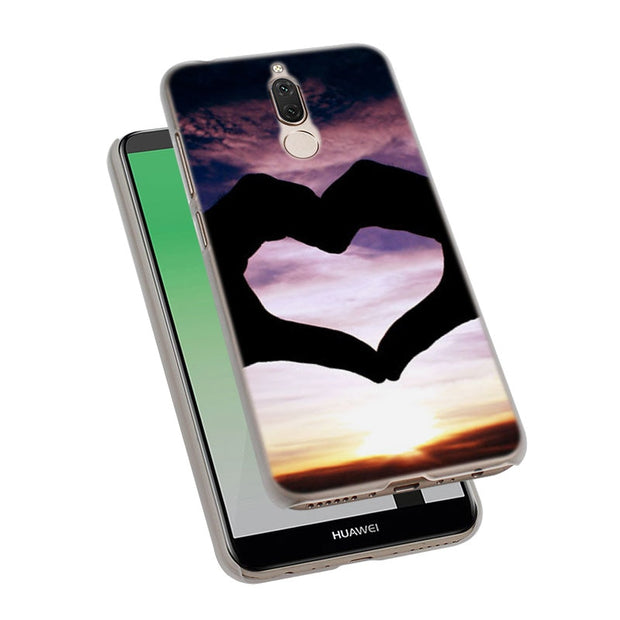 Kpop Heart Love Pull Hook Phone Case Cover For Huawei Nova 2i 3 3e 3i 4 Mate 10 20 Lite P20 Pro P20 Lite Hard PC Phone Cases