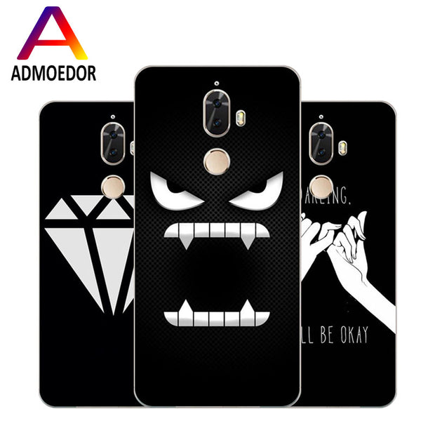 Lenovo K8 Note Case,Silicon Black Graffiti Painting Soft TPU Back Cover For Lenovo K8 Plus Phone Protect Bags Shell