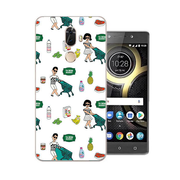 Lenovo K8 Note Case,Silicon Cartoon Painting Soft TPU Back Cover For Lenovo K8 Plus Phone Fitted Case Shell