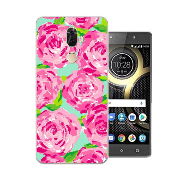 Lenovo K8 Note Case,Silicon Colorful Plant Painting Soft TPU Back Cover For Lenovo K8 Plus Phone Protect Case Shell