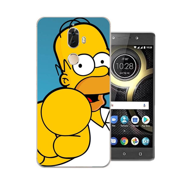Lenovo K8 Note Case,Silicon Popular Cartoon Painting Soft TPU Back Cover For Lenovo K8 Plus Phone Protect Bags Shell