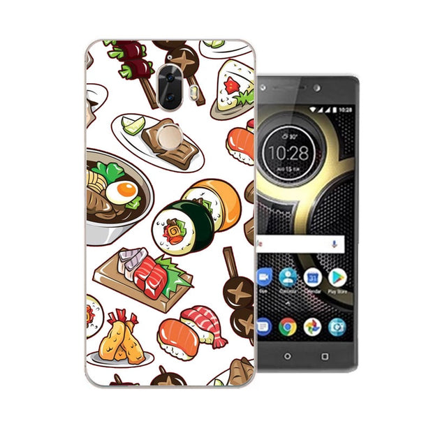 Lenovo K8 Note Case,Silicon Rich Food Painting Soft TPU Back Cover For Lenovo K8 Plus Phone Protect Case Shell