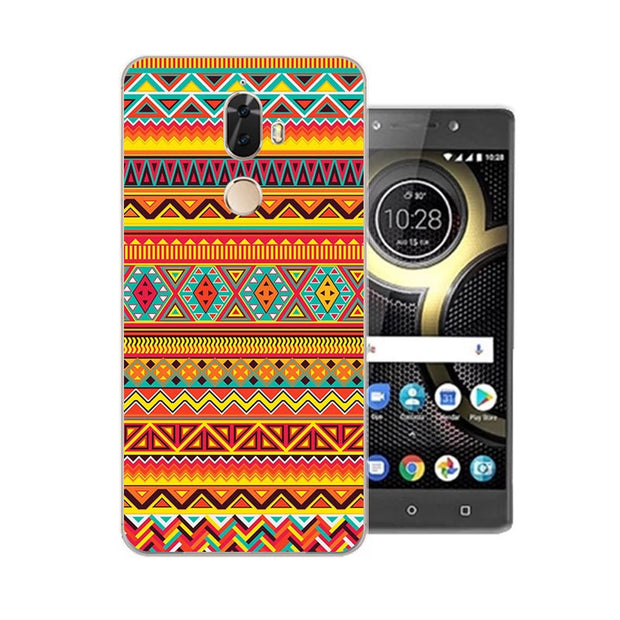Lenovo K8 Note Case,Silicon Mandala Cartoon Painting Soft TPU Back Cover For Lenovo K8 Plus Phone Protect Bags Shell