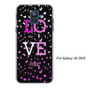 Love Pink Pink Purple Cases Cover For Samsung Galaxy A6 A6+ A8 A8+ 2018 A3 A5 A7 A9 2018 A8s A6s Hard Back Phone Case