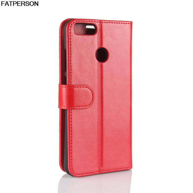 Luxury Bracket Leather Phone Case For Xiaomi Mi 5X Phone Case Wallet Smart Cover For Xiaomi 5X Case PU Card Bag Full Capa