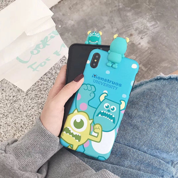 Maosenguoji Korea Cute Cartoon Kneeling Monsters University Funny Mobile Phone Case For Iphone 6 6s 6plus 7 8 Plus X XR XS MAX