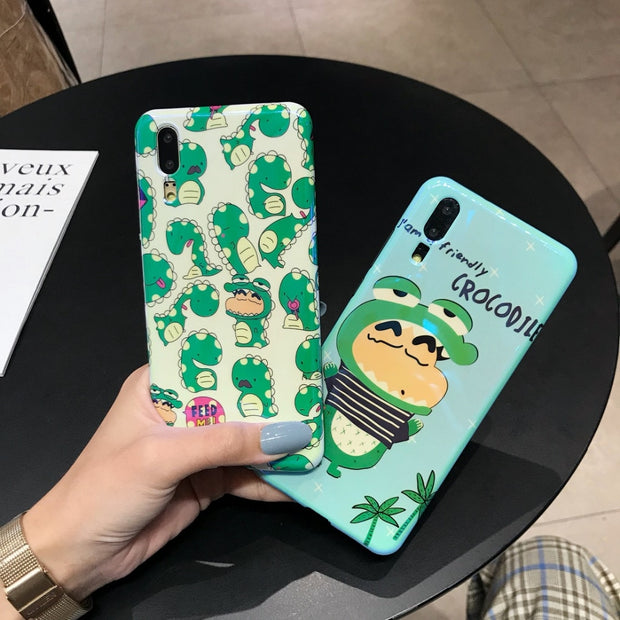 Maosenguoji Cartoon Funny Crayon Shinchan Fashion Bracket Mobile Phone Case For Huawei P10 P20 PRO MATE10 PRO Honor 9 10 Nova 2s