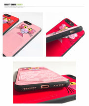 Maosenguoji Cute Embroidery Funny Pocket Naughty Leopard Luxury Mobile Phone Case For Iphone 6 6s Plus 7plus 8 Plus X 10 Fashion