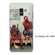 Marvel Superheroes Captain America Iron Man Spiderman Cases Cover For Samsung Galaxy A6 A6+ A8 A8+ 2018 A3 A5 A7 A9 2018 A8s A6s