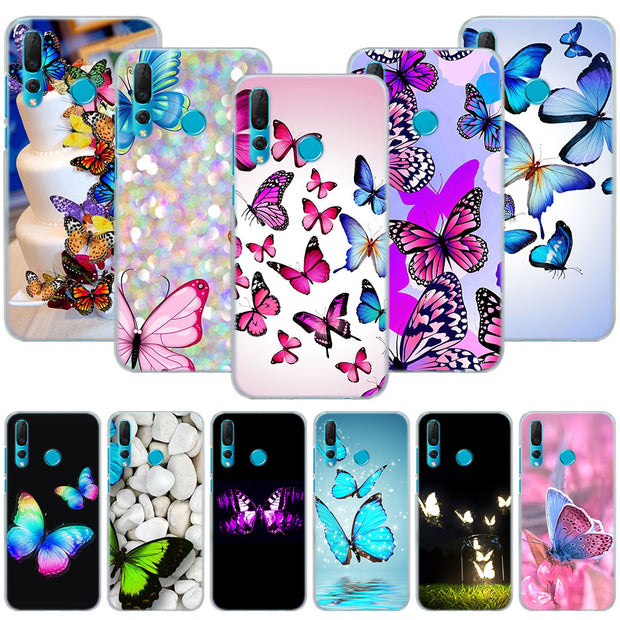 Pink Butterfly Flower Phone Case Cover For Huawei Nova 2i 3 3e 3i 4 Mate 10 20 Lite P20 Pro P20 Lite Hard PC Phone Cases