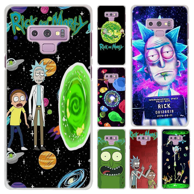 sports shoes ae412 61148 Rick And Morty Pattern Transparent Frame Hard Case Cover For Samsung ...