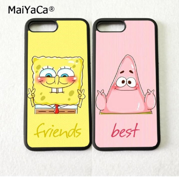 Spongebob Patrick Bff Best Friends Silicone Soft Phone Cases For Iphon Emerald Cases