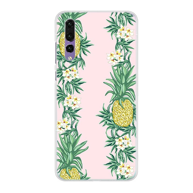 Summer Pink Pineapple Phone Case Cover For Huawei Nova 2i 3 3e 3i 4 Mate 10 20 Lite P20 Pro P20 Lite Hard PC Phone Cases