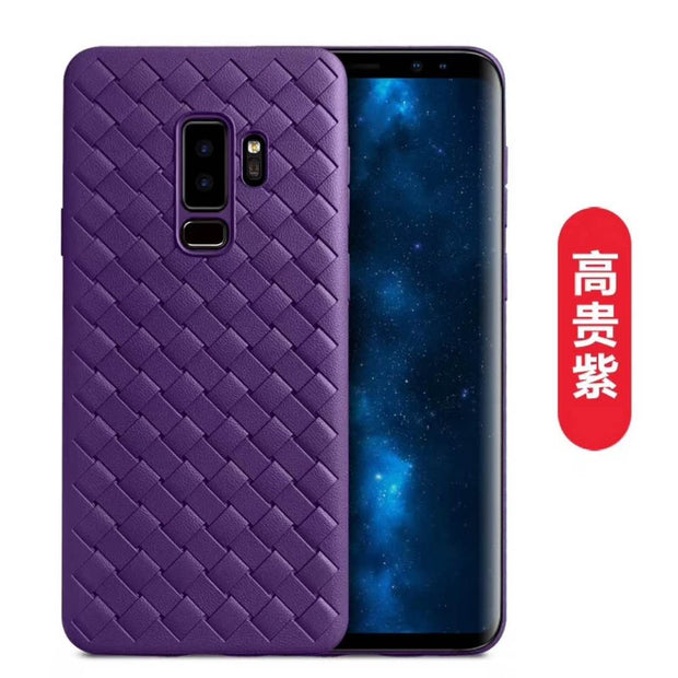 Woven Pattern Shell Case For Samsung S9 Plus, TPU Soft Back Case For Samsung Galaxy S9/S9plus Mobile Phone Bag