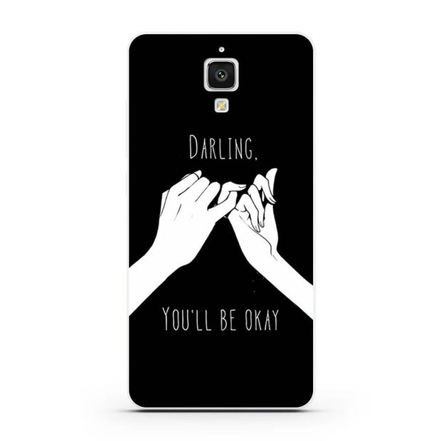 Xiaomi Mi4 Mi4i Mi4c Case,Silicon Black Graffiti Painting Soft TPU Back Cover For Xiaomi Mi 4 Mi 4i Mi 4c Phone Bags Shell