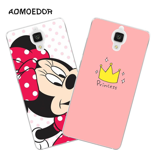 Xiaomi Mi4 Mi4i Mi4c Case,Silicon Cartoon Animal Painting Soft TPU Back Cover For Xiaomi Mi 4 Mi 4i Mi 4c Phone Bags Shell