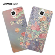 Xiaomi Mi4 Mi4i Mi4c Case,Silicon Beautiful Flowers 3D Relief Painting Soft TPU Back Cover For Xiaomi Mi4 M4 Phone Case