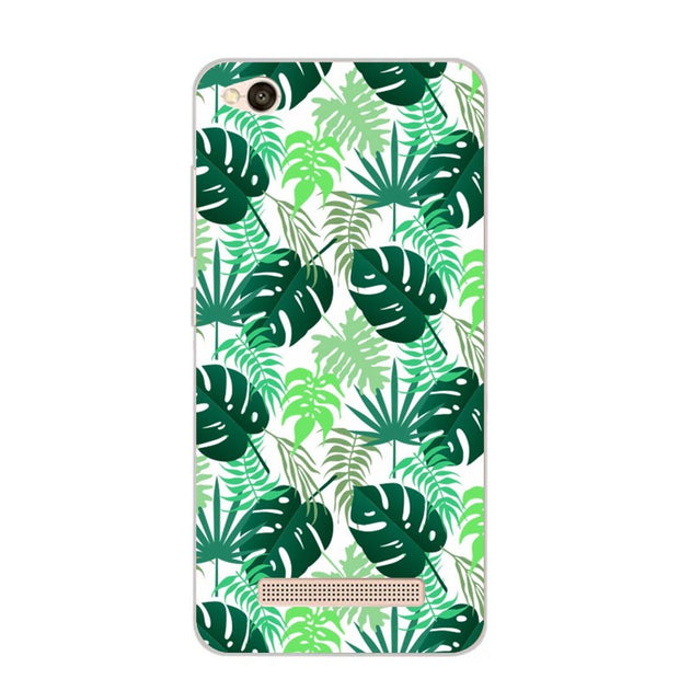 Xiaomi Redmi 5a Case,Silicon Colorful Plant Soft TPU Back Cover For Xiaomi Redmi 5a Phone Protect Bags Shell