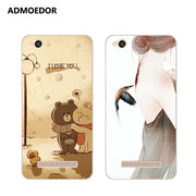 Xiaomi Redmi 5a Case,Silicon Fashion Cartoon Painting Soft TPU Back Cover For Xiaomi Redmi 5a Phone Protect Bags Shell