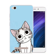 Xiaomi Redmi 5a Case,Silicon Lovely Kitten Painting Soft TPU Back Cover For Xiaomi Redmi 5a Phone Fitted Bags Shell