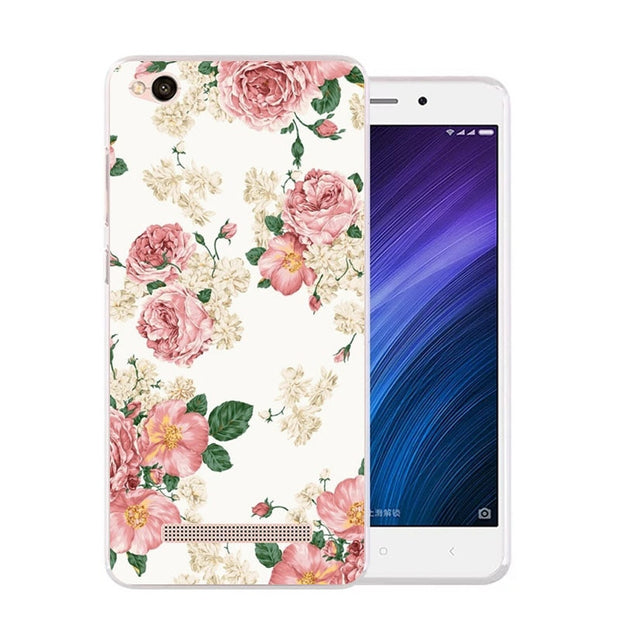 Xiaomi Redmi 5a Case,Silicon Beautiful Flowers 3D Relief Painting Soft TPU Back Cover For Redmi 5a Phone Protect Bags Shell