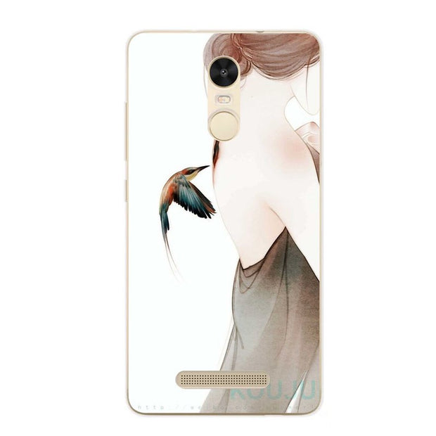 Xiaomi Redmi Note 3 Pro Case, Silicon Fashion Cartoon Painting Soft TPU Back Cover For Redmi Note 3 Transparent Phone Bags