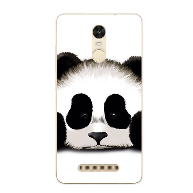 Xiaomi Redmi Note 3 Pro Case,Silicon Panda Painting Soft TPU IMD Back Cover For Redmi Note 3 Transparent Phone Bags
