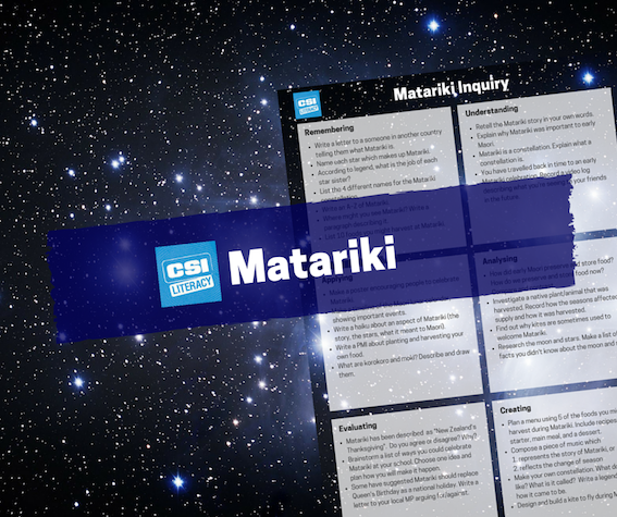 Lessons and activities for Matariki
