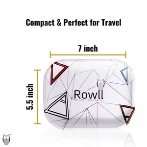 Rowll Signature Small Metal Rolling Tray & Get Rowll all in 1 Rolling Kit